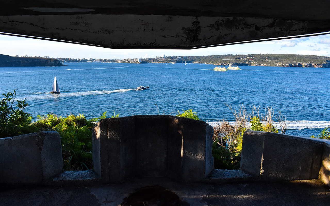 View to Manly from the Middle Head bunker in Sydney