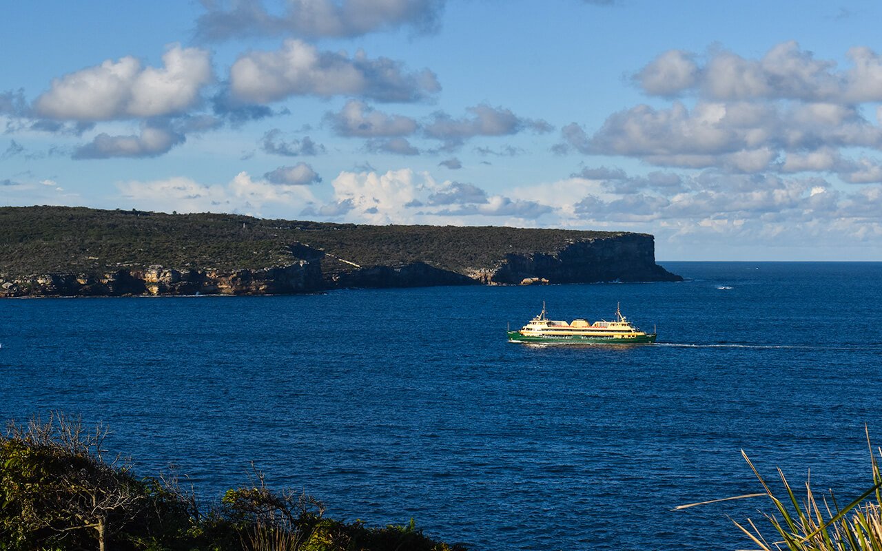 Sydney's North Head and Manly Ferry from Middle Head