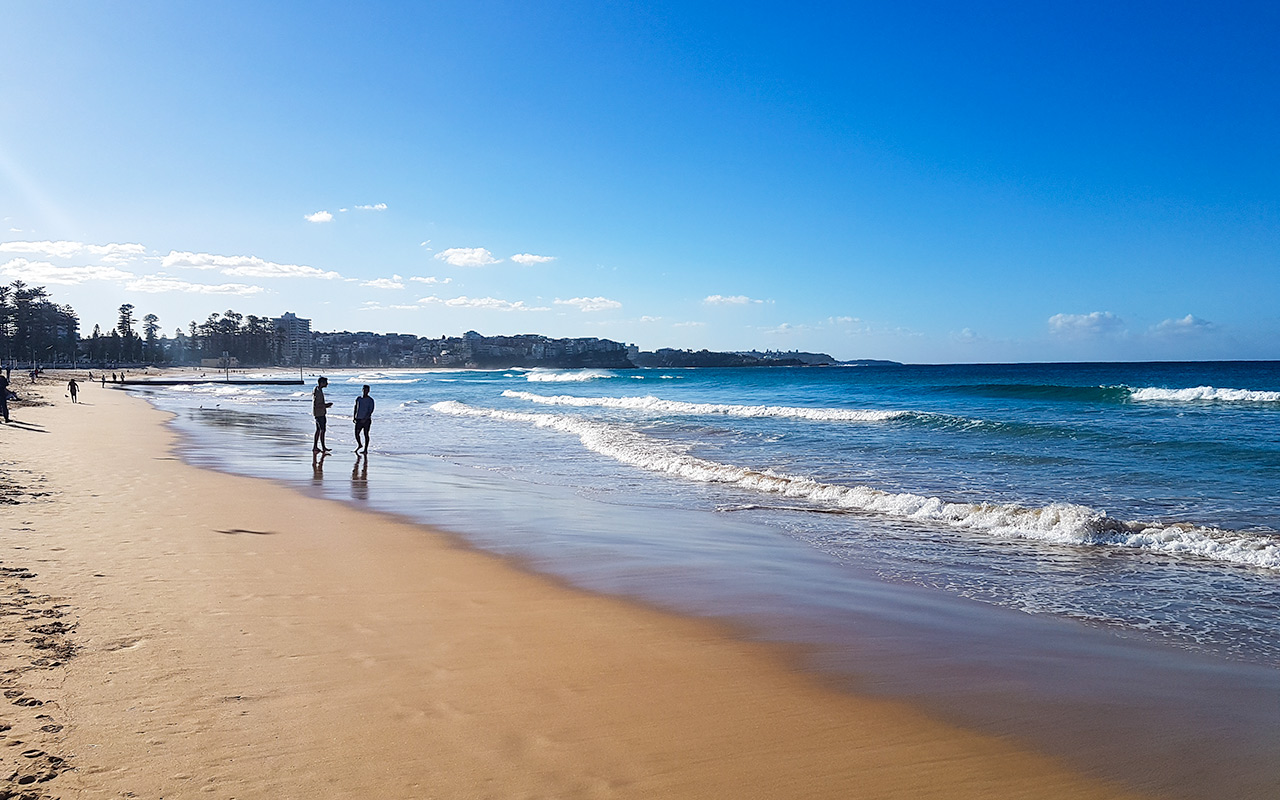 Take a break at Manly Beach at the end of the North Head Manly Walk