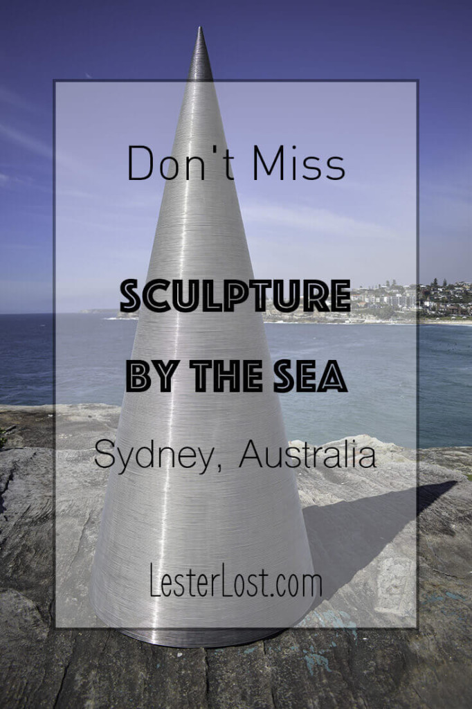 Sculpture by the Sea is an outdoor contemporary art exhibition that takes place every October in Sydney, Australia. The statues are exhibited on the coastal walk from Bondi to Coogee.