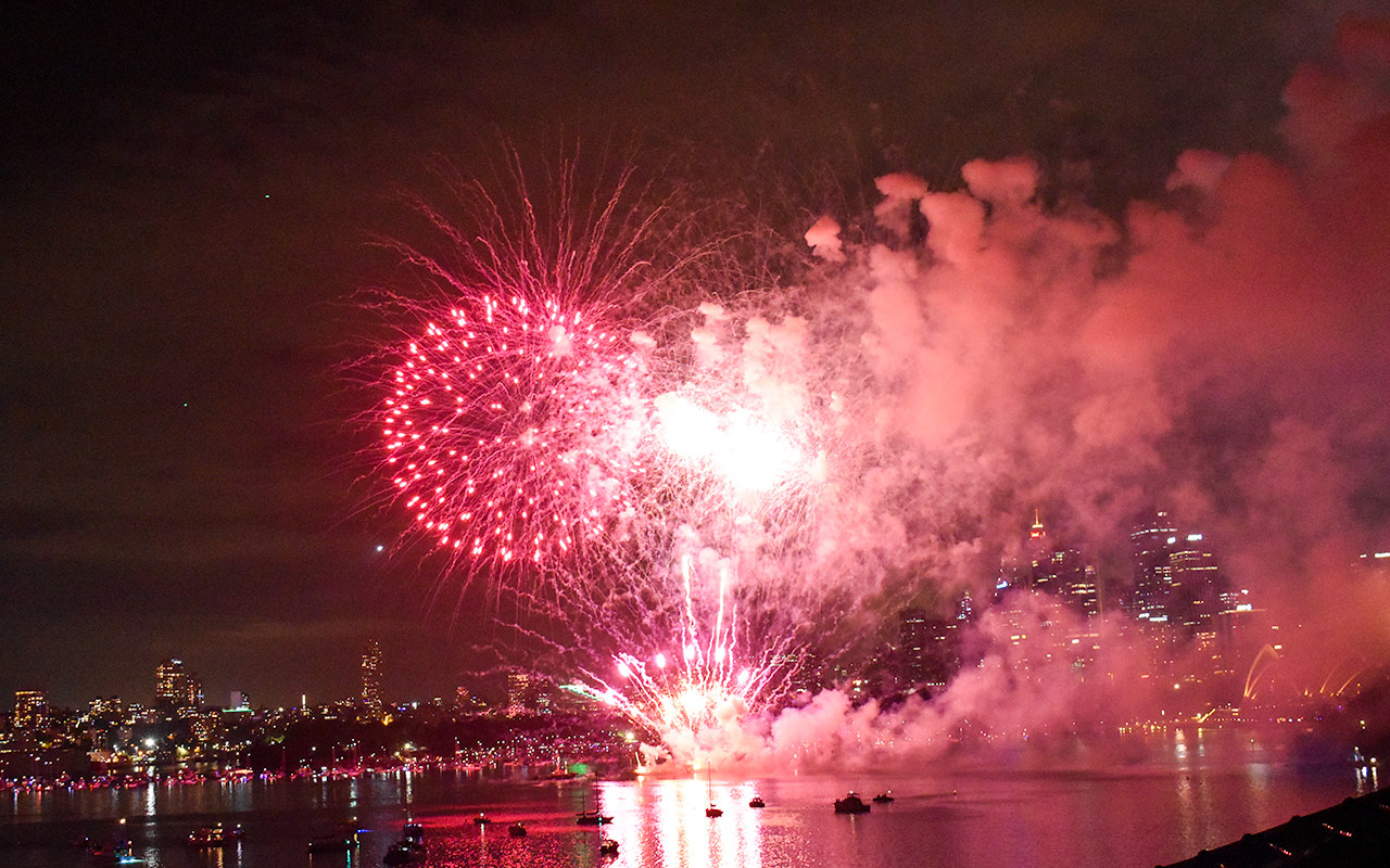 The New Years' Eve fireworks are still the most spectacular thing to do in Sydney for free