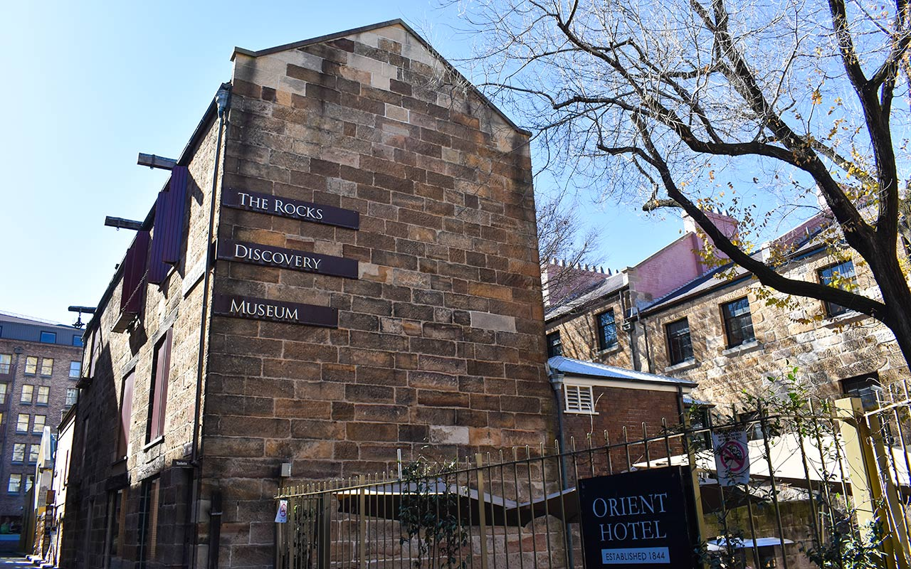 You will understand more about The Rocks self guided walking tour when visiting the Discovery Museum