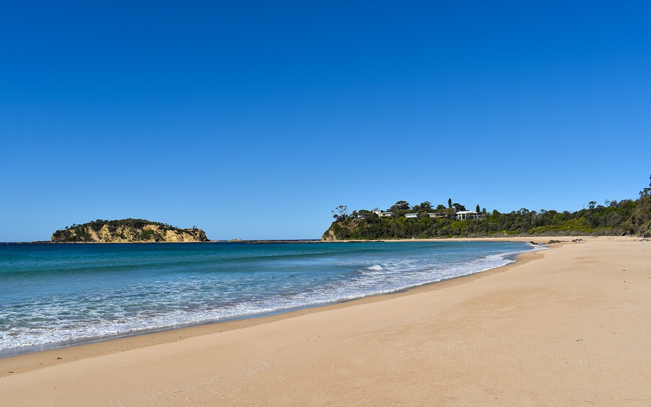 Rosedale Beach in Batemans Bay NSW is pristine and deserted