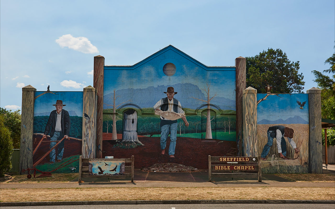 Sheffield is a place of interest in Tasmania thanks to its many murals