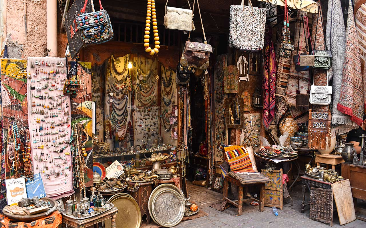 Antique shopping in Morocco is also an option