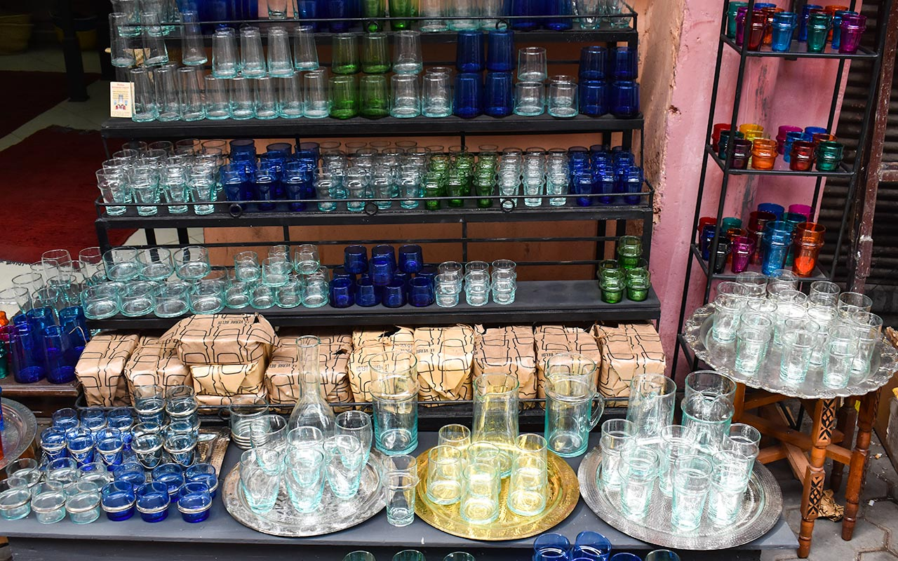 Morocco has some simple yet beautiful glassware to buy