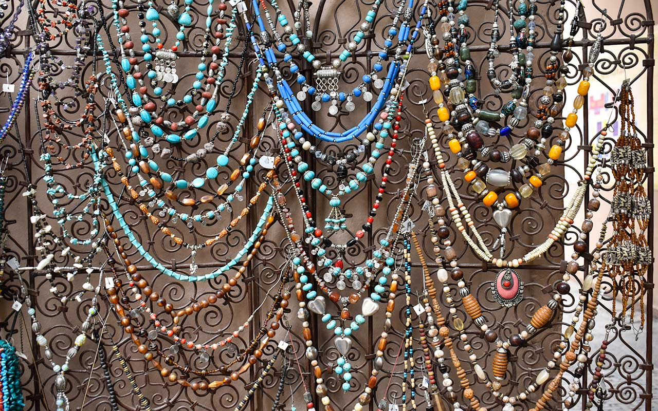 There is a vast choice of jewellery to shop for in Morocco