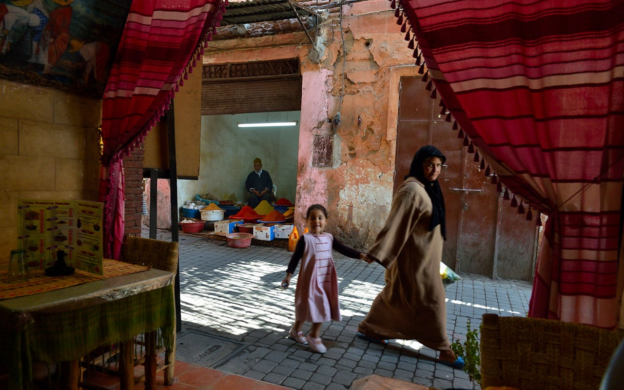 Street photography is something you can try when travelling around Morocco