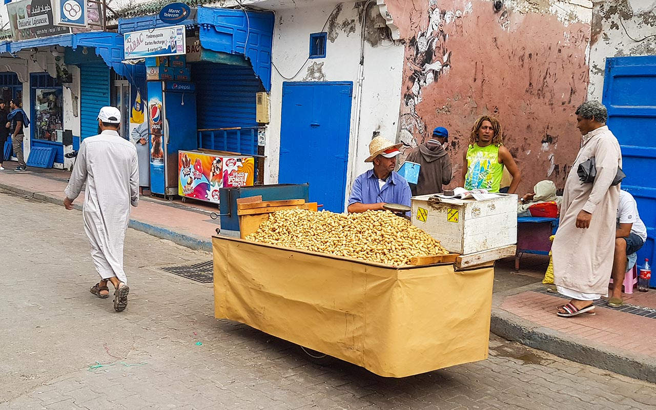 You won't have to do too much haggling in Morocco when buying a small bag of peanuts