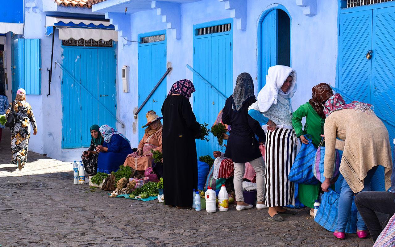 Women in the marketplace make of many reasons to visit Morocco