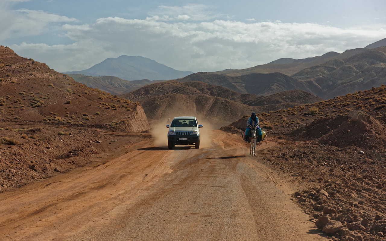 Driving on the roads in Morocco is a unique experience