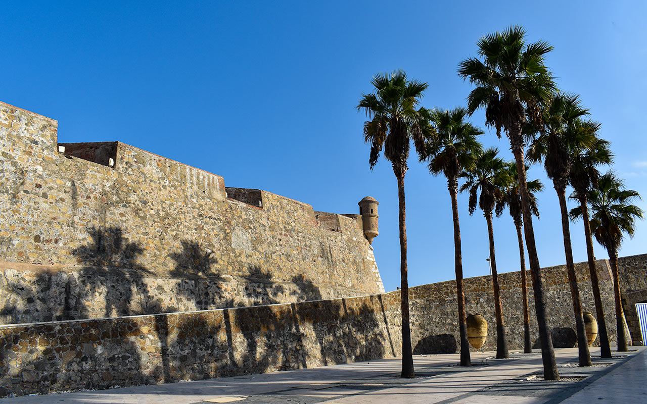 the spanish enclave of Ceuta in Morocco has some renovated royal walls
