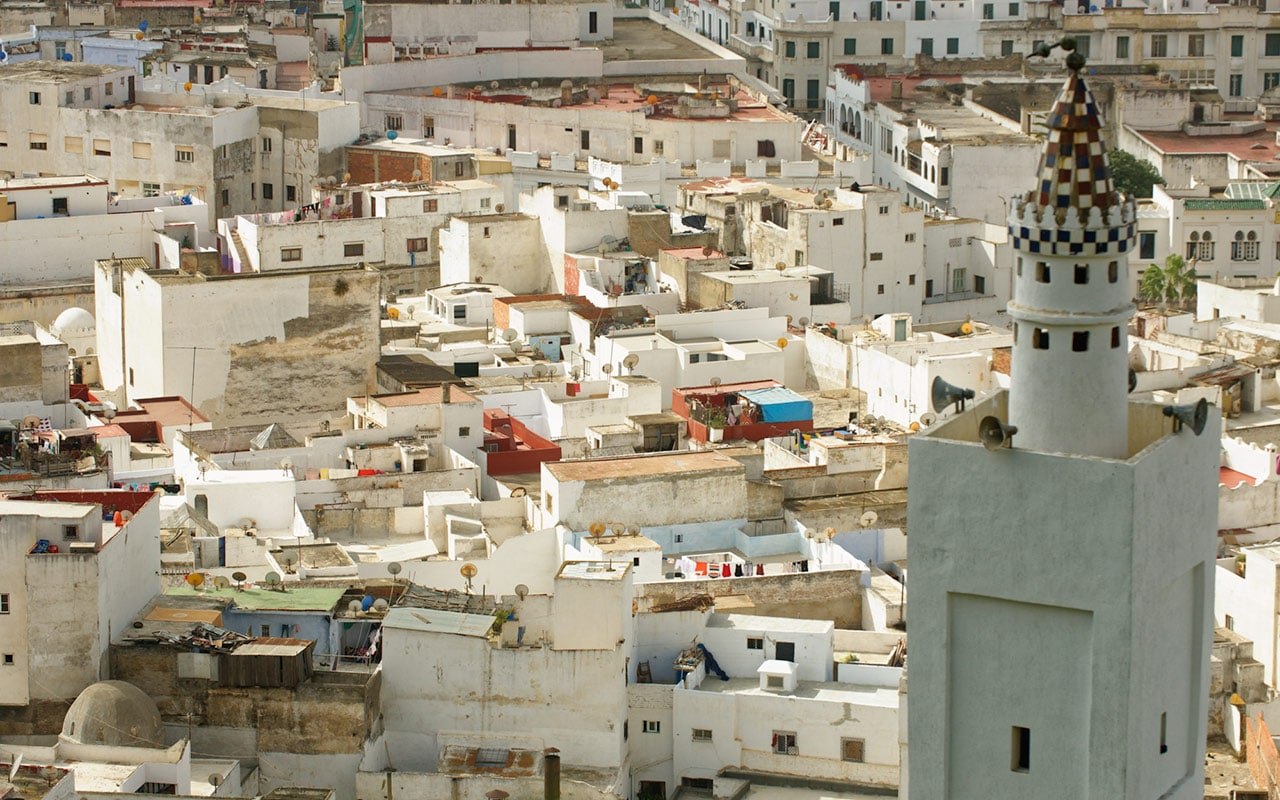 The white houses of Tetouan are most interesting for street photography in Morocco