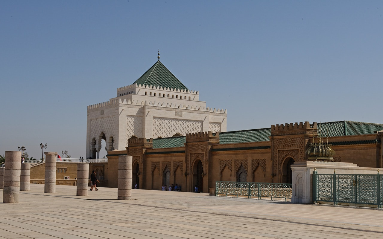 The Mohammed V Mausoleum is a very interesting thing to visit in Rabat on the Morocco Atlantic Coast