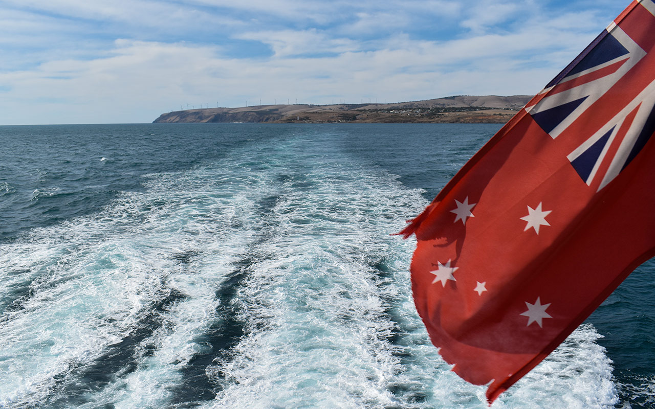 Leaving the Fleurieu Peninsula behind for our Kangaroo Island trip