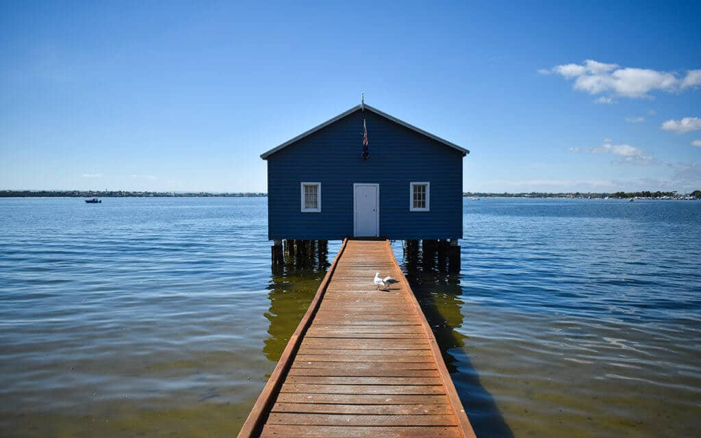 The Blue Boat House in Perth, Western Australia
