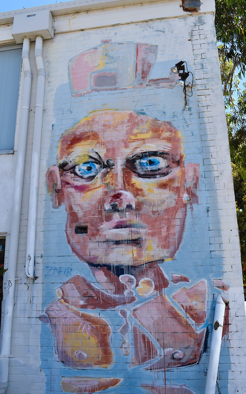 This strange face is something to find on your Perth walk