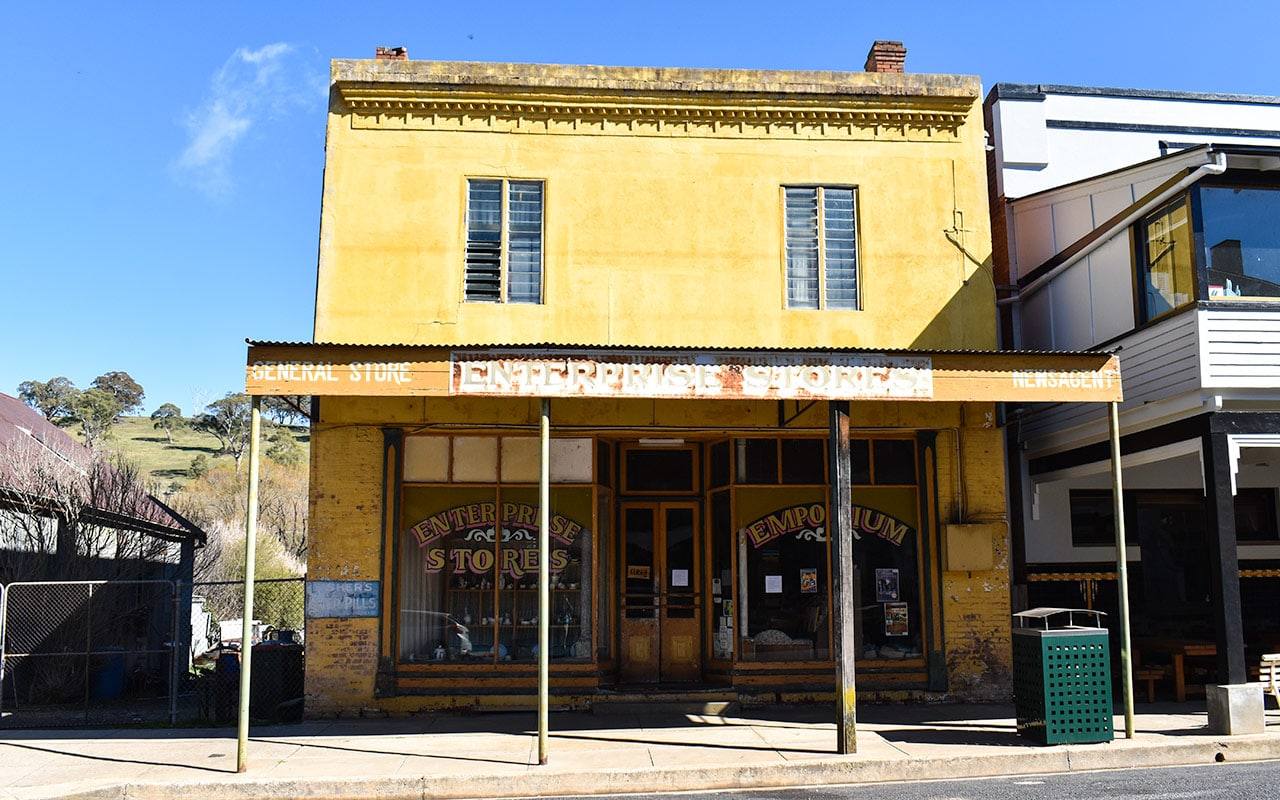 Some shops in Carcoar are quite well preserved