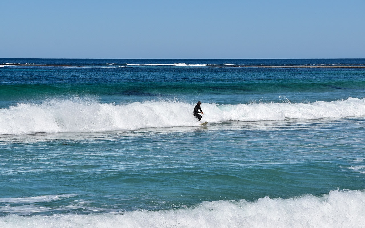 The West Australia Coast is great for surfing