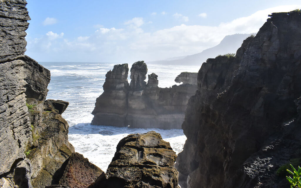 Pancake Rocks are worth a visit when you drive along the West Coast