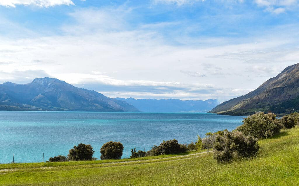 Elfin Bay is on the other side of Lake Wakatipu