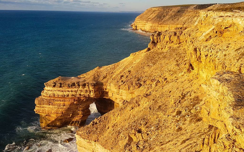 Natural Bridge is one of the icons in Kalbarri