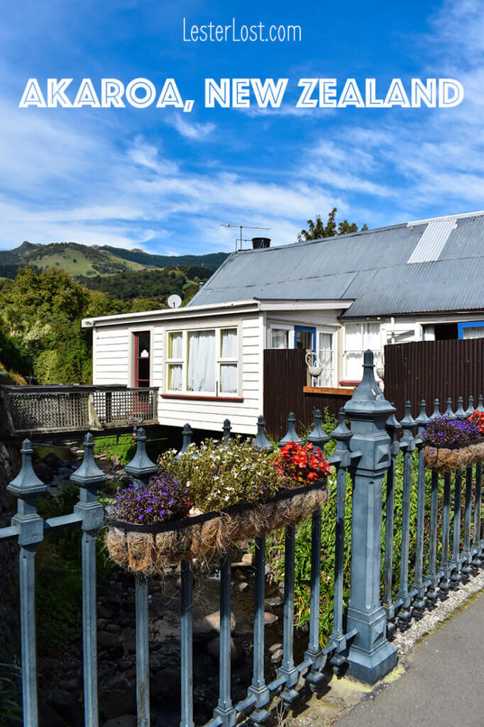 The streets of Akaroa have a French feel
