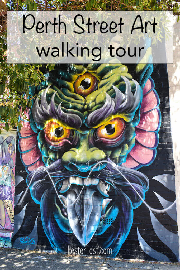 Perth Street Art is everywhere on the streets...
