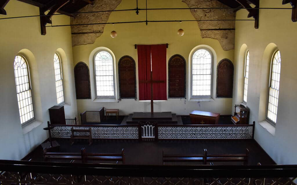 The convict chapel is quite an elegant building in the centre of Fremantle Prison
